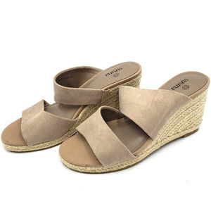 Susina Suede Leather Double Strap Espadrille Wedge